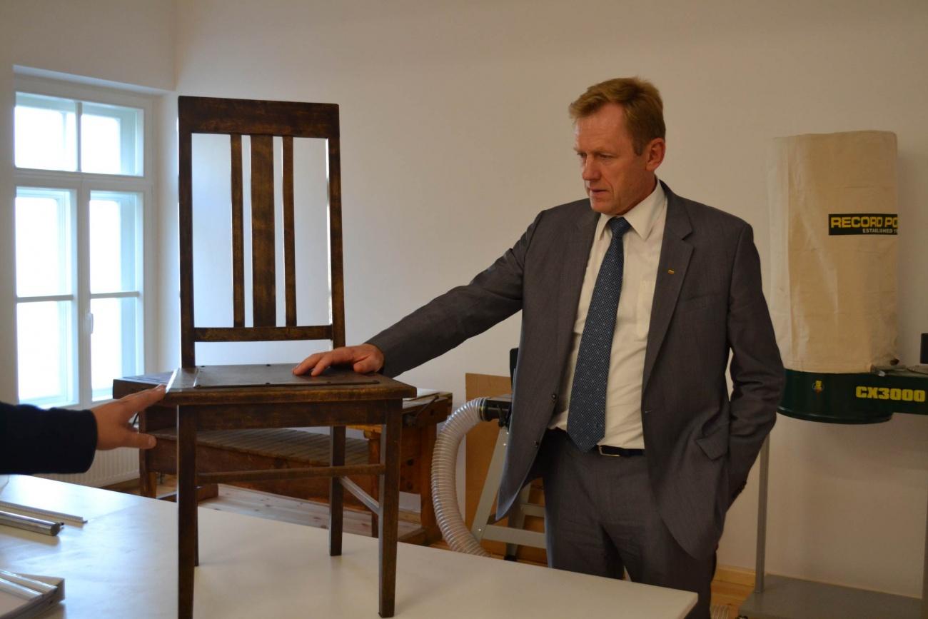 Lietuvos Respublikos kultūros ministro vizitas Taikomųjų kultūros paveldo tyrimų ir konservavimo centre