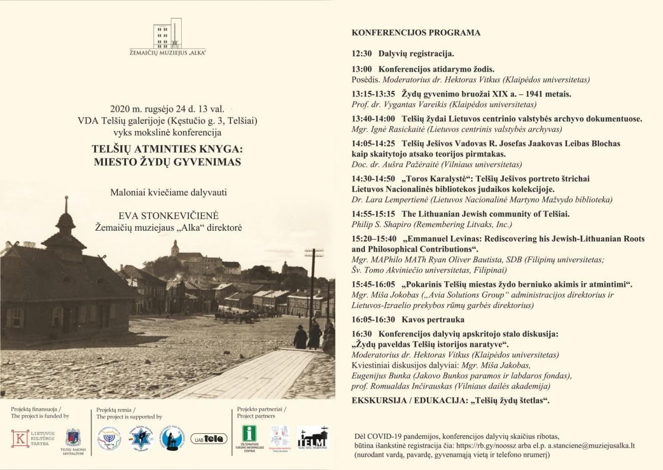 """Mokslinė konferencija - """"Telšių atminties knyga: miesto žydų gyvenimas"""""""