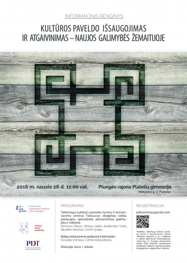 Taikomųjų kultūros paveldo tyrimų ir koncervavimo centras baigė projekte numatytų informacinių renginių ciklą